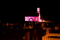 I arrived well before dawn and cruised in the dark to this pink church.